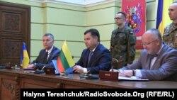 Підписання технічної угоди про функціонування литовсько-польсько-української бригади. Львів, 24 липня 2015 року