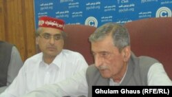 FILE: The explosion took place as Haroon Bilour (L), the party's candidate for a provincial assembly, was arriving for a party meeting.