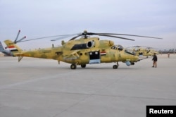 An Mi-35 attack helicopter