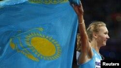 Лондон олимпиадасының чемпионы Ольга Рыпакова. 5 тамыз 2012 жыл.