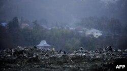 Сочиден 14 шақырым жердегі Горный Воздух ауылындағы қоқыс үйіндісі.