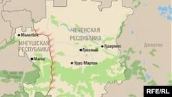 Нохчийчоьнан а, ГIалгIайчоьнан а карта