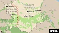 Карта Чеченской республики и Ингушетии