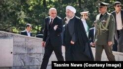 حسن روحانی، رییسجمهوری ایران و اشرف غنی، رییسجمهوری افغانستان در تهران