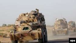 Mjetet ushtarake të koalicionit të udhëhequr nga sauditët.