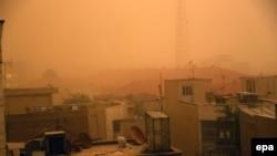 A sandstorm engulfs the the capital Tehran, June 2, 2014