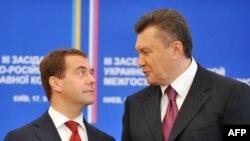 Дмитрий Медведев и Виктор Янукович в Киеве, 17 мая 2010