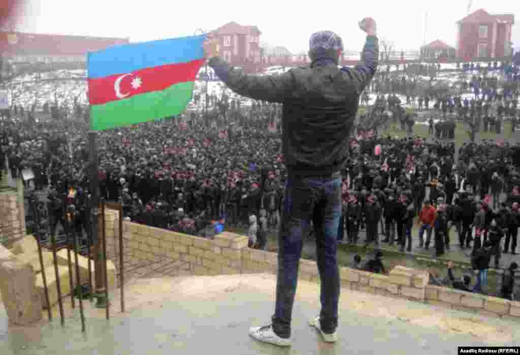Azerbaijan - Protests in Guba, Guba, 01Mar2012