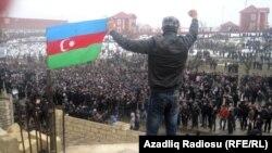 Qubada etiraz aksiyasından görüntü, 1 mart 2012