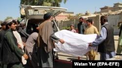 Tela ubijenih u raciji bezbedonosnih snaga Avganistana, Helmand, 23. septembar
