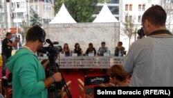 """Konferencija za novinare ekipe filma """"Sa mamom"""", Sarajevo, 21. avgust 2013."""