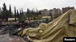 Spitali fushor rus që u granatua - Alepo, Siri