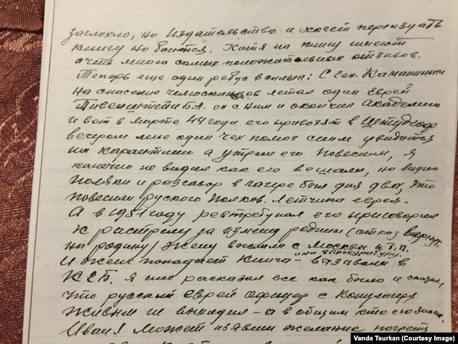 Письмо Юрия Цуркана Ивану Панфилову