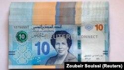 توحیده بن الشیخ بر روی اسکناس ۱۰ دیناری تونس
