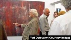 داریوش شایگان در نمایشگاه نقاشی یاری استوانی (تهران)