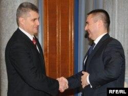 Ministar unutrašnjih poslova Ivan Brajović i direktor Policije Veselin Veljović