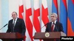 Հայաստանի և Վրաստանի նախագահների համատեղ ասուլիսը Երևանում, 27-ը փետրվարի, 2014թ․