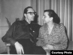 Аркадий Белинков с женой Натальей, 1968
