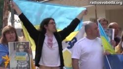 استقبال شهروندان اوکراین از امضای توافقنامه همکاری این کشور با اتحادیه اروپا