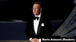 Glumac Tom Hanks tokom dodjele Oscara, februar 2020.