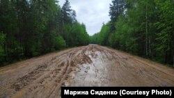 Дорога к Музей ледового побоища в Псковской области