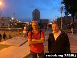 Сяргей Вазьняк (зьлева) і Андрэй Дзьмітрыеў