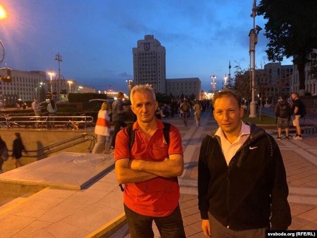 Siarhei Vazniak (links) und Andrei Dzmitryeu