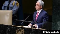 U.S. - Armenian President Serzh Sarkisian addresses the UN General Assembly in New York, 24 Sep, 2014