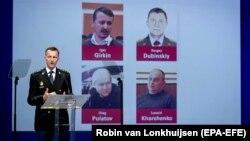 Представител на разследващия екип обявява резултатите от разследването на катастрофата на MH17.