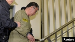 Капітан порома Лі Чон Сок у суді, 11 листопада 2014 року