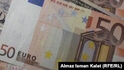 Банкнота номиналом 50 евро.