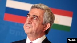 The announcement of a new CSTO crisis response center was made by Armenian President Serzh Sarkisian in Yerevan.