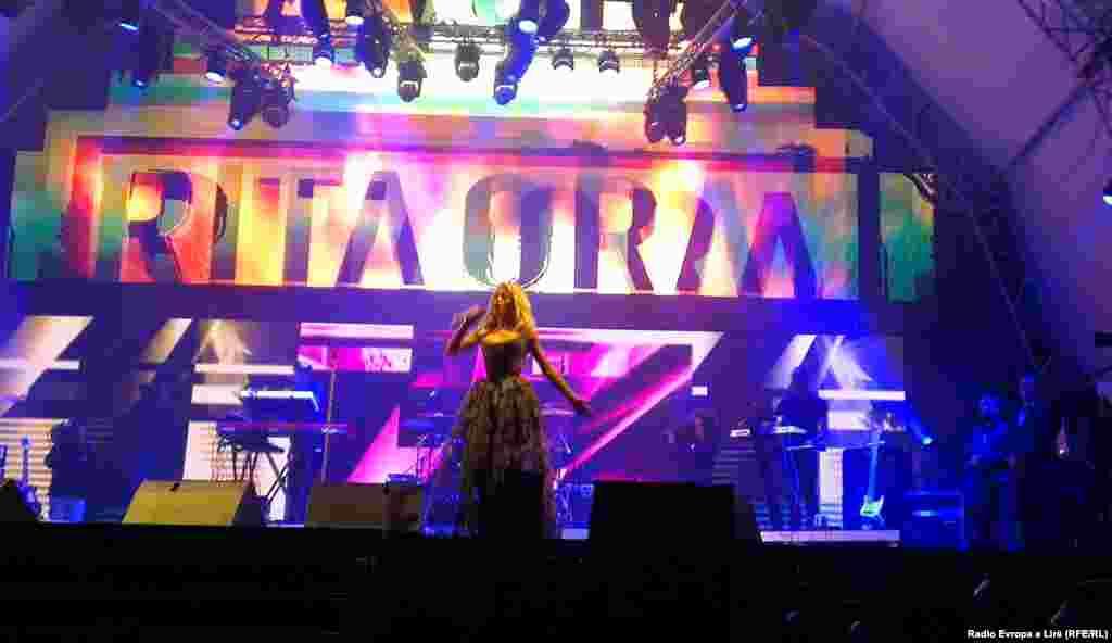 Albania - Kosovar singer Rita Ora, 28Nov2012