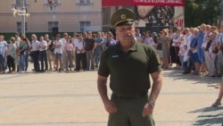 Українські прикордонники вишикувалися у формі кордонів України – відео