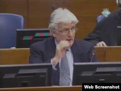 Radovan Karadžić u sudnici haškog tribunala, 24. siječanj 2012.