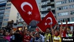 Түркиядағы наразылық шарасы. Стамбул, 2 маусым 2013 жыл.