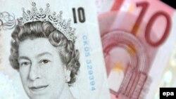 عشرة يورو وعشرة جنيهات بريطانية