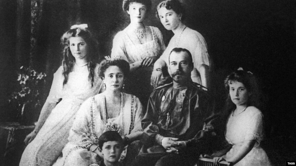 Nicholas, together with his entire family (shown here in 1913), was executed after the 1917 Bolshevik coup. They were canonized as Russian Orthodox saints in 2000.