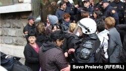 Pokušaj ulaska u zgradu Ustavnog suda, Podgorica