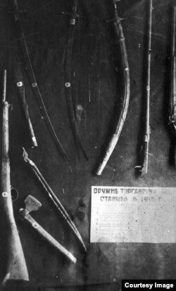 1916 жылғы Торғай көтерілісшілерінің қару-жарақтары. (Көрнекі сурет)