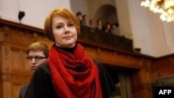 Заместитель министра иностранных дел Украины Елена Зеркаль в Международном суде ООН, который рассматривает иск против России. Гаага, 6 марта 2017 года