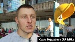 Михаил Едалов, изъявивший желание служить по контракту. Алматы, 28 августа 2013 года.