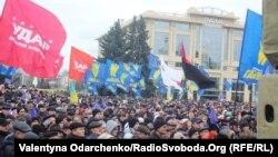 Протести в Луцьку, 1 грудня 2013 року