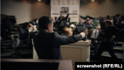 The video on the party's website and Facebook account contains a 10-second scene from The Servant Of The People, a popular Ukrainian TV series.