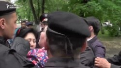 Kazakh Police Break Up Activists' News Conference