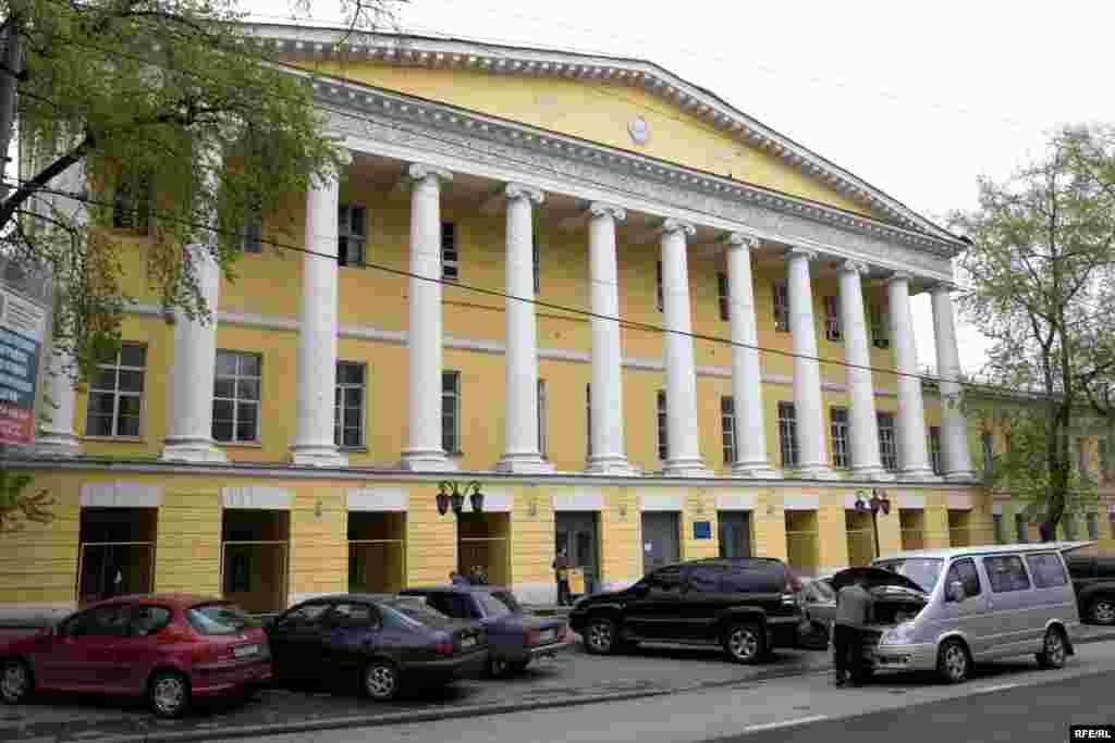 Усадьба князей Гагариных, вид со Страстного бульвара