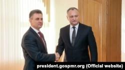 Igor Dodon la întîlnirea cu Vadim Krasnoselski