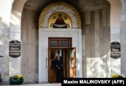 Будівля Білоруського екзархату Російської православної церкви (РПЦ) в Мінську, 15 жовтня 2018 року