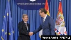 Johanes Han se pre predavanja susreo sa predsednikom Srbije Aleksandrom Vučićem