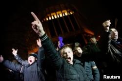 Пророссийский митинг в Симферополе